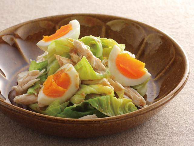 キャベツとささみの温野菜サラダ
